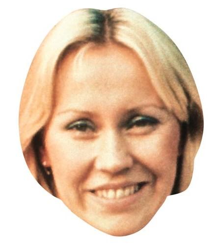 A Cardboard Celebrity Masks of Agnetha Faltskog