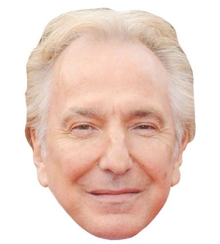 A Cardboard Celebrity Mask of Alan Rickman