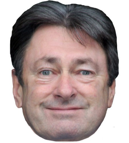 A Cardboard Celebrity Mask of Alan Titchmarsh