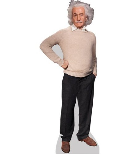 A Lifesize Cardboard Cutout of Albert Einstein