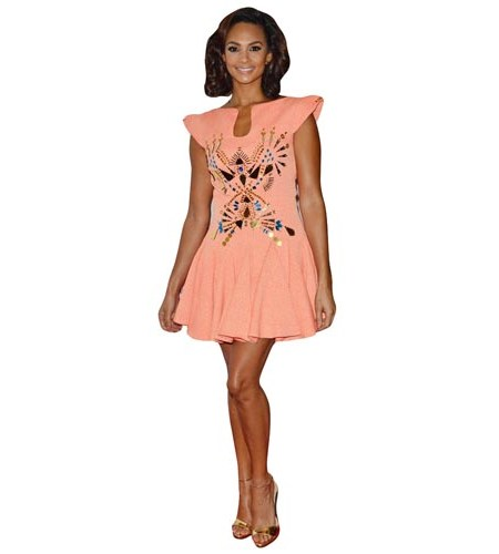 Alesha Dixon Peach Dress Cardboard Cutout