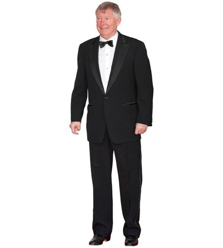 A Lifesize Cardboard Cutout of Alex Ferguson wearing a bowtie