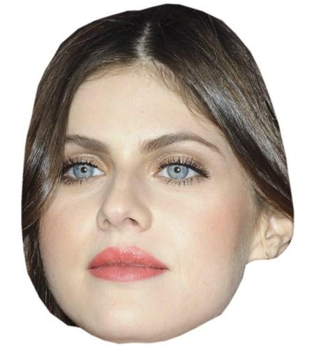 A Cardboard Celebrity Mask of Alexandra Daddario