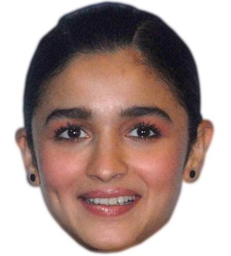 Cardboard Cutout Celebrity Alia Bhatt Mask