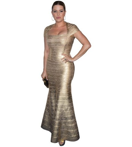 A Lifesize Cardboard Cutout of Alicia Machado