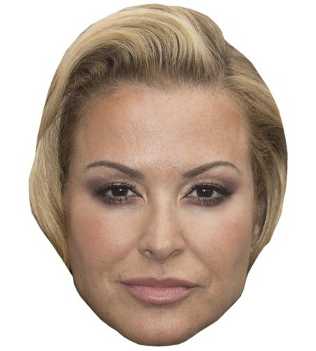 A Cardboard Celebrity Mask of Anastacia