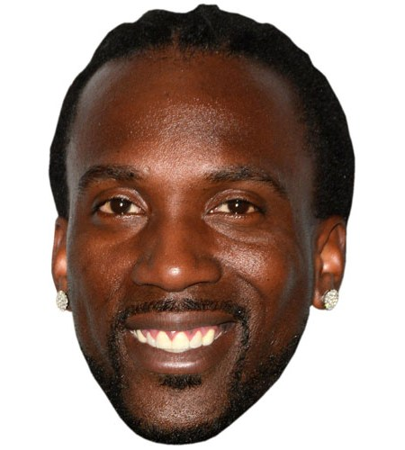 A Cardboard Celebrity Mask of Andrew McCutchen