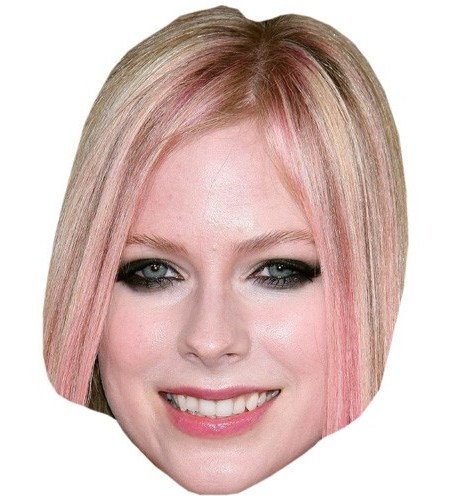 A Cardboard Celebrity Mask of Avril Lavigne