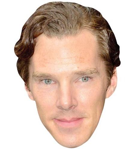 A Cardboard Celebrity Mask of Benedict Cumberbatch