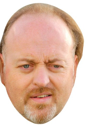 A Cardboard Celebrity Mask of Bill Bailey