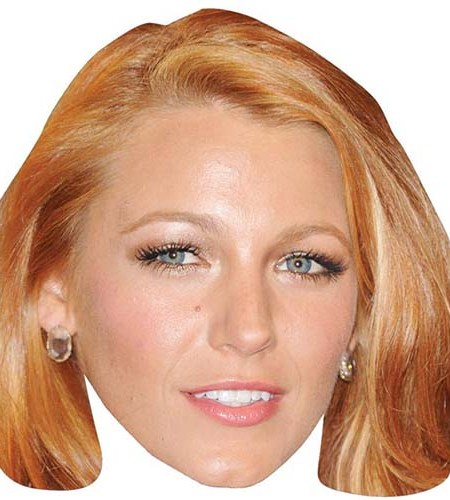 A Cardboard Celebrity Mask of Blake Lively