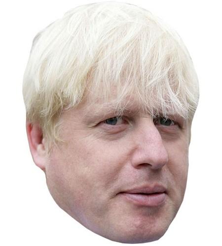 A Cardboard Celebrity Mask of Boris Johnson