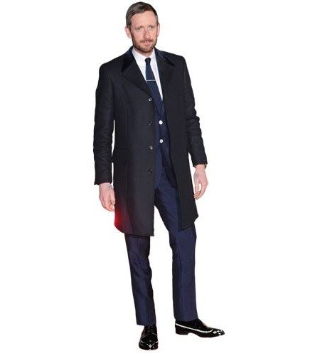 A Lifesize Cardboard Cutout of Bradley Wiggins wearing a suit