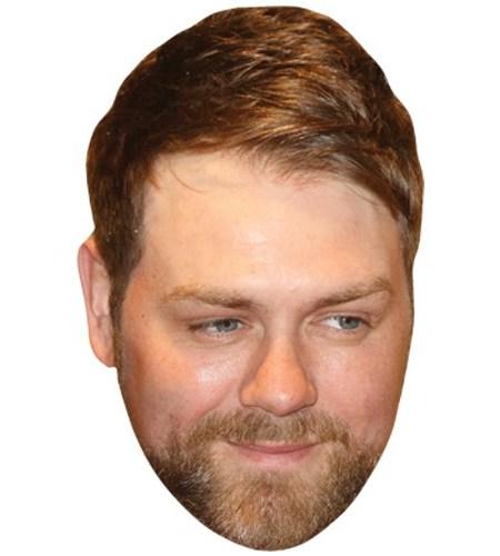 A Cardboard Celebrity Mask of Brian McFadden
