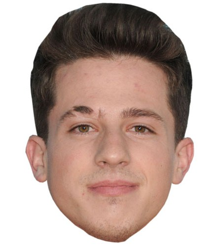 ACardboard Celebrity Mask of Charlie Puth
