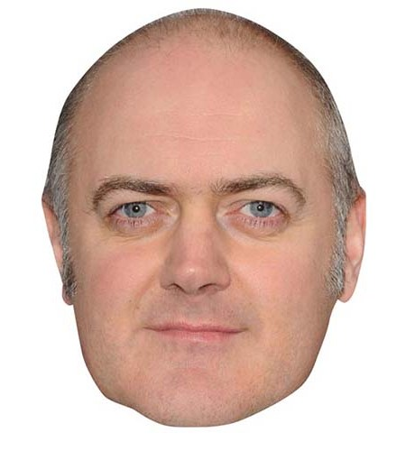 A Cardboard Celebrity Mask of Dara O'Briain