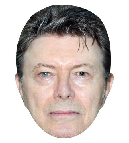 A Cardboard Celebrity Mask of David Bowie