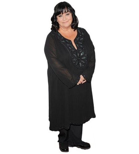 A Lifesize Cardboard Cutout of Dawn French wearing black