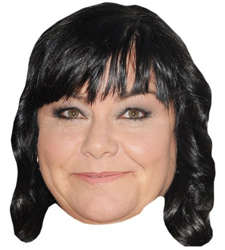A Cardboard Celebrity Dawn French Mask