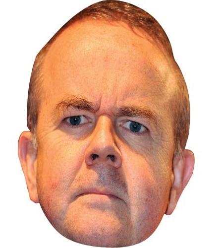 A Cardboard Celebrity Mask of Ian Hislop
