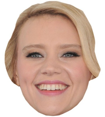 A Cardboard Celebrity Mask of Kate McKinnon
