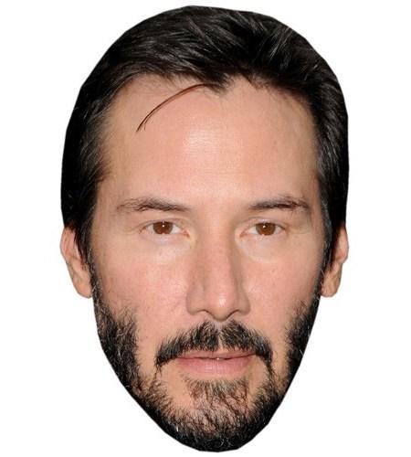 A Cardboard Celebrity Mask of Keanu Reeves
