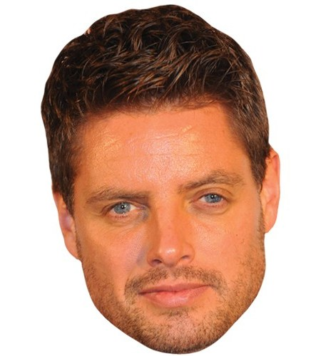A Cardboard Celebrity Mask of Keith Duffy