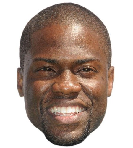 A Cardboard Celebrity Mask of Kevin Hart