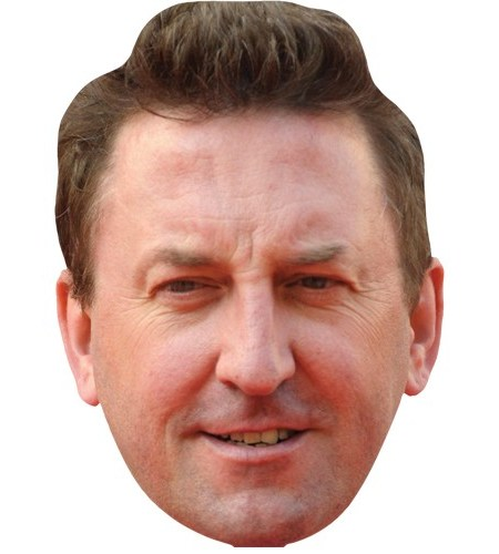 A Cardboard Celebrity Mask of Lee Mack