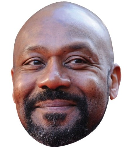 A Cardboard Celebrity Mask of Lenny Henry