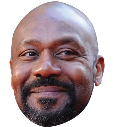 A Cardboard Celebrity Mask of Lenny Henry