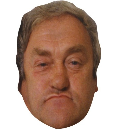 A Cardboard Celebrity Mask of Les Dawson