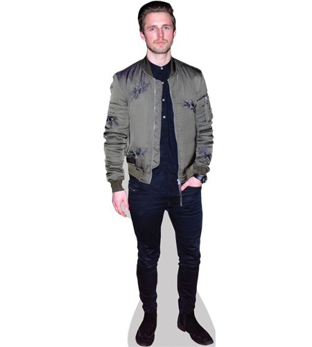 A Lifesize Cardboard Cutout of Marcus Butler wearing a jacket