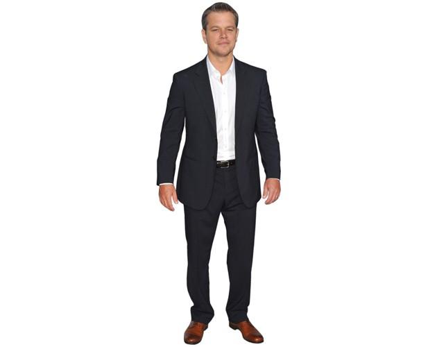 Matt Damon Cardboard Cutout Standee. mini size