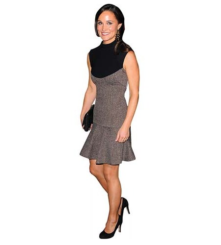 A Lifesize Cardboard Cutout of Pippa Middleton wearing a short dress