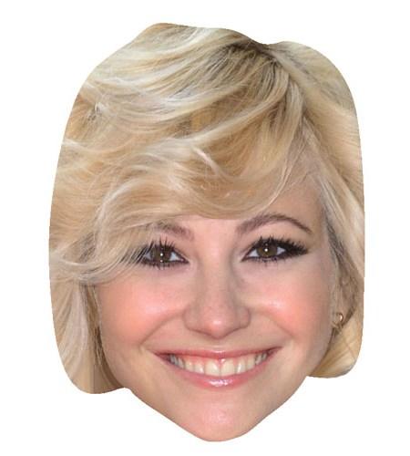 A Cardboard Celebrity Mask of Pixie Lott