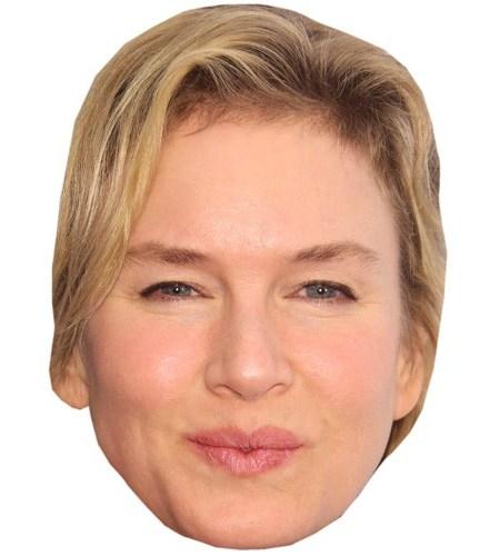 A Cardboard Celebrity Mask of Renee Zellweger