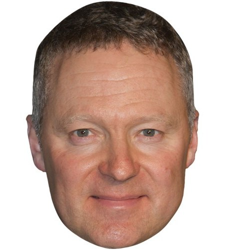 A Cardboard Celebrity Mask of Rory Bremner