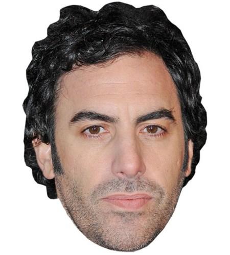 A Cardboard Celebrity Mask of Sacha Baron Cohen