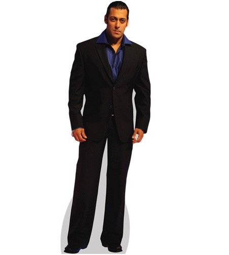 A Lifesize Cardboard Cutout of Salman Khan wearing black