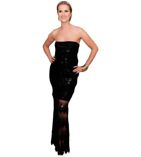 A Lifesize Cardboard Cutout of Sarah Jayne Dunn wearing black