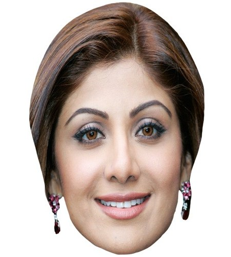 A Cardboard Celebrity Mask of Shilpa Shetty