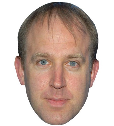 A Cardboard Celebrity Mask of Tim Vine