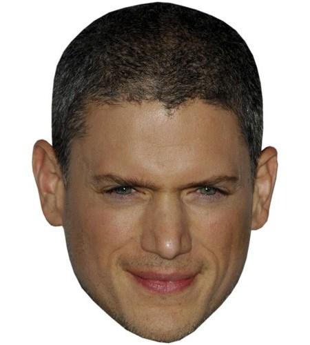 A Cardboard Celebrity Mask of Wentworth Miller