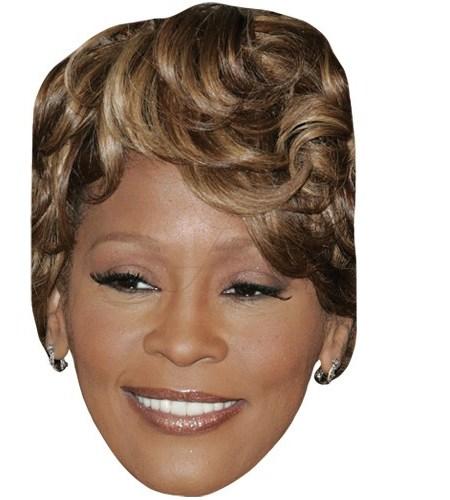 A Cardboard Celebrity Mask of Whitney Houston (Modern)