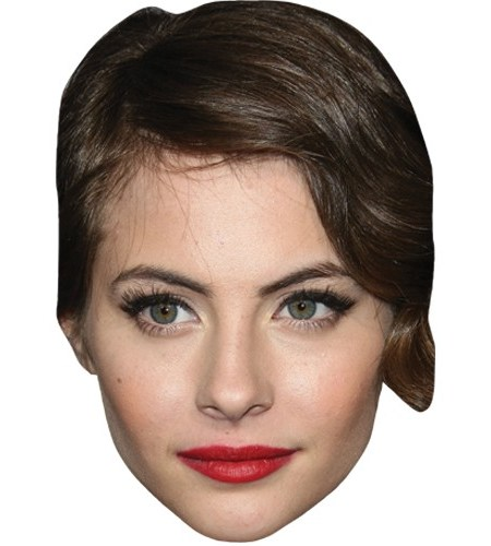 A Cardboard Celebrity Mask of Willa Holland