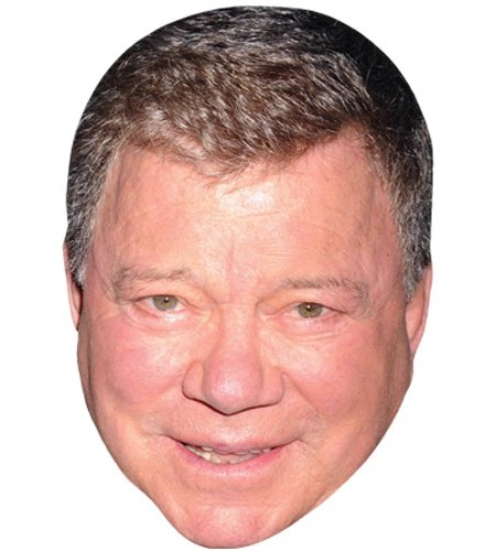 A Cardboard Celebrity Mask of William Shatner
