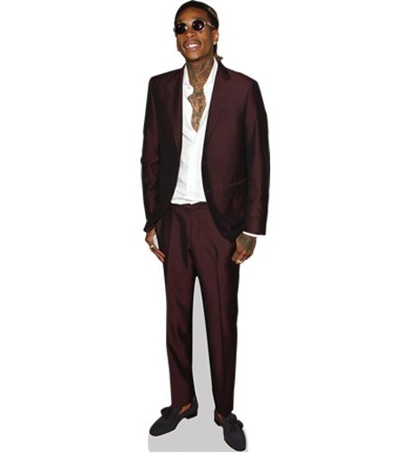 A Lifesize Cardboard Cutout of Wiz Khalifa wearing a suit