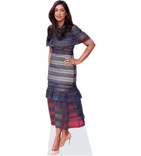 Tina Daheley (Blue Dress)