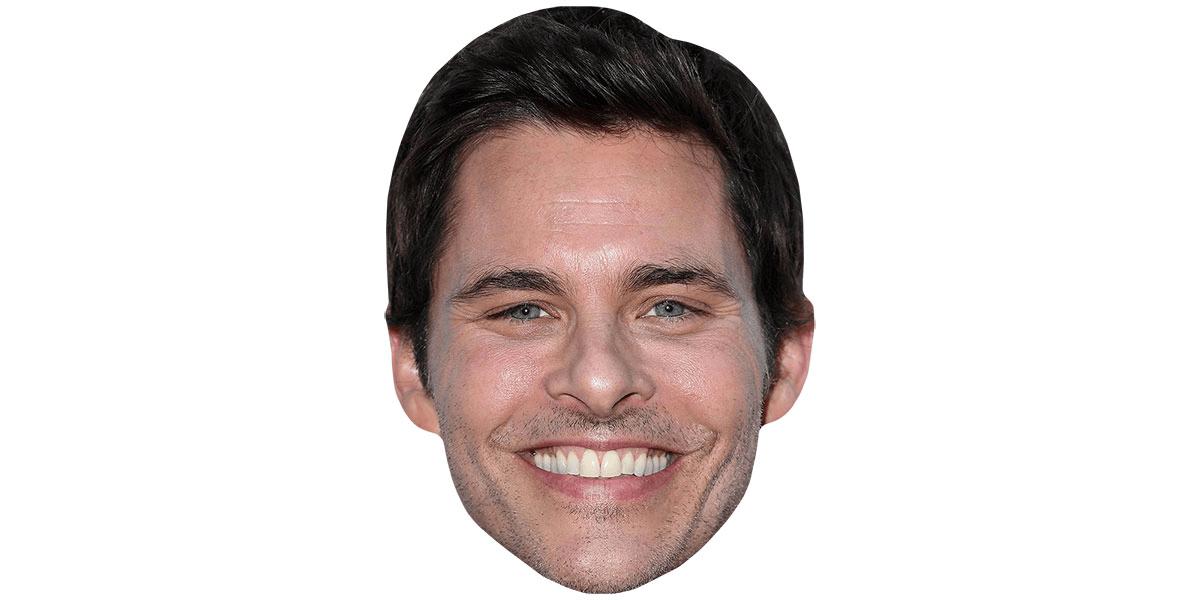 James Marsden Flat Card Face Smile Celebrity Mask